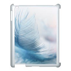 Feather Ease Slightly Blue Airy Apple Ipad 3/4 Case (white)