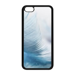 Feather Ease Slightly Blue Airy Apple Iphone 5c Seamless Case (black)