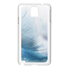 Feather Ease Slightly Blue Airy Samsung Galaxy Note 3 N9005 Case (white) by Nexatart