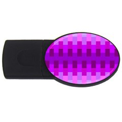 Geometric Cubes Pink Purple Blue Usb Flash Drive Oval (4 Gb) by Nexatart