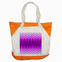 Geometric Cubes Pink Purple Blue Accent Tote Bag