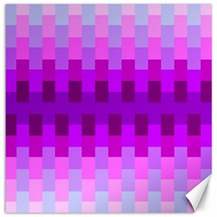 Geometric Cubes Pink Purple Blue Canvas 16  X 16   by Nexatart