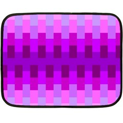 Geometric Cubes Pink Purple Blue Double Sided Fleece Blanket (mini)  by Nexatart