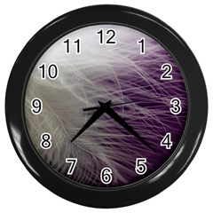 Feather Ease Airy Spring Dress Wall Clocks (black)