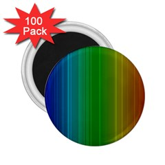 Spectrum Colours Colors Rainbow 2 25  Magnets (100 Pack)