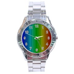 Spectrum Colours Colors Rainbow Stainless Steel Analogue Watch
