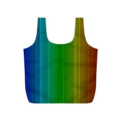 Spectrum Colours Colors Rainbow Full Print Recycle Bags (s)  by Nexatart