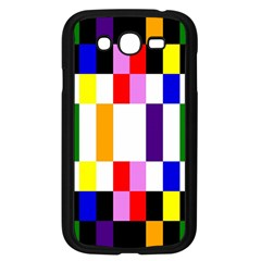 Rainbow Color Blocks Red Orange Samsung Galaxy Grand Duos I9082 Case (black)