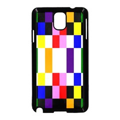 Rainbow Color Blocks Red Orange Samsung Galaxy Note 3 Neo Hardshell Case (black) by Nexatart