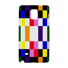 Rainbow Color Blocks Red Orange Samsung Galaxy Note 4 Hardshell Case
