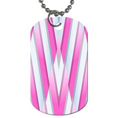 Geometric 3d Design Pattern Pink Dog Tag (two Sides) by Nexatart
