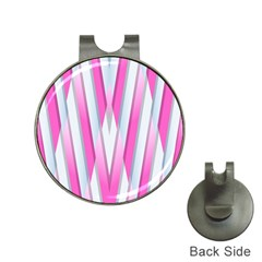 Geometric 3d Design Pattern Pink Hat Clips With Golf Markers