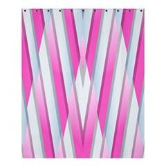 Geometric 3d Design Pattern Pink Shower Curtain 60  X 72  (medium)