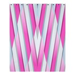Geometric 3d Design Pattern Pink Shower Curtain 60  x 72  (Medium)  54.25 x65.71 Curtain
