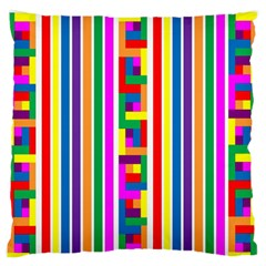 Rainbow Geometric Design Spectrum Standard Flano Cushion Case (one Side)