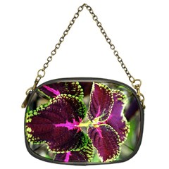 Plant Purple Green Leaves Garden Chain Purses (one Side)  by Nexatart