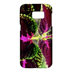 Plant Purple Green Leaves Garden Samsung Galaxy S7 Hardshell Case