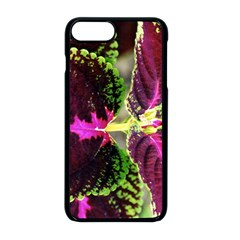 Plant Purple Green Leaves Garden Apple Iphone 8 Plus Seamless Case (black) by Nexatart