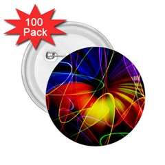 Fractal Pattern Abstract Chaos 2 25  Buttons (100 Pack)
