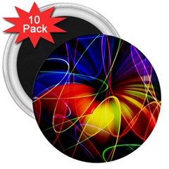 Fractal Pattern Abstract Chaos 3  Magnets (10 Pack)  by Nexatart