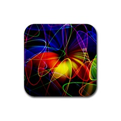 Fractal Pattern Abstract Chaos Rubber Coaster (square)
