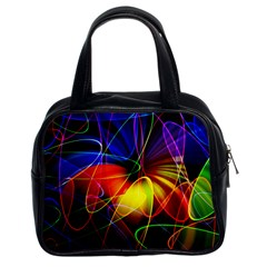 Fractal Pattern Abstract Chaos Classic Handbags (2 Sides) by Nexatart