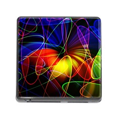 Fractal Pattern Abstract Chaos Memory Card Reader (square) by Nexatart
