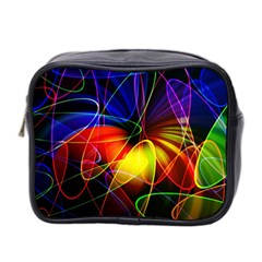 Fractal Pattern Abstract Chaos Mini Toiletries Bag 2 Side