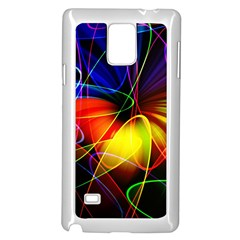 Fractal Pattern Abstract Chaos Samsung Galaxy Note 4 Case (white)
