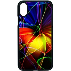 Fractal Pattern Abstract Chaos Apple Iphone X Seamless Case (black)