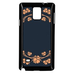 Floral Vintage Royal Frame Pattern Samsung Galaxy Note 4 Case (black)