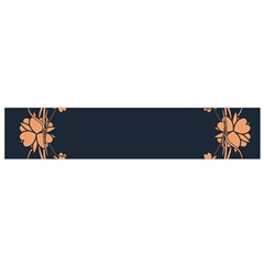 Floral Vintage Royal Frame Pattern Small Flano Scarf