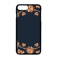 Floral Vintage Royal Frame Pattern Apple Iphone 8 Plus Seamless Case (black)