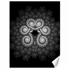 Fractal Filigree Lace Vintage Canvas 36  X 48   by Nexatart