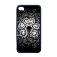Fractal Filigree Lace Vintage Apple Iphone 4 Case (black)