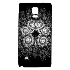 Fractal Filigree Lace Vintage Galaxy Note 4 Back Case by Nexatart