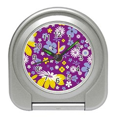 Floral Flowers Travel Alarm Clocks by Nexatart