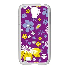 Floral Flowers Samsung Galaxy S4 I9500/ I9505 Case (white)