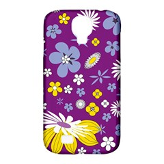 Floral Flowers Samsung Galaxy S4 Classic Hardshell Case (pc+silicone)