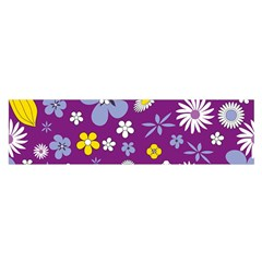 Floral Flowers Satin Scarf (oblong)