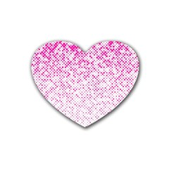Halftone Dot Background Pattern Rubber Coaster (heart)