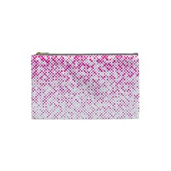 Halftone Dot Background Pattern Cosmetic Bag (small)