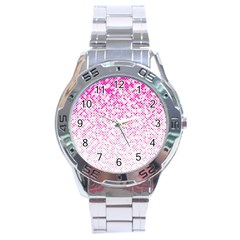 Halftone Dot Background Pattern Stainless Steel Analogue Watch by Nexatart