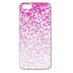 Halftone Dot Background Pattern Apple Seamless iPhone 5 Case (Clear) Front