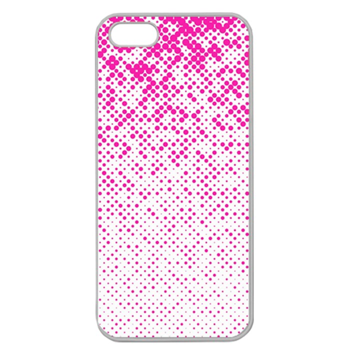 Halftone Dot Background Pattern Apple Seamless iPhone 5 Case (Clear)
