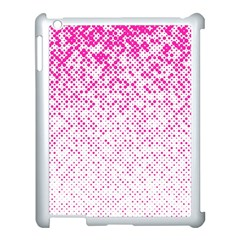 Halftone Dot Background Pattern Apple Ipad 3/4 Case (white) by Nexatart