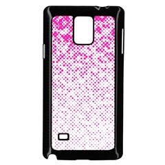 Halftone Dot Background Pattern Samsung Galaxy Note 4 Case (black)