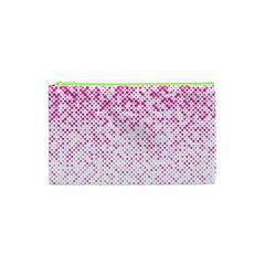 Halftone Dot Background Pattern Cosmetic Bag (xs)