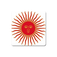 Peru Sun Of May, 1822 1825 Square Magnet by abbeyz71