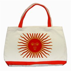 Peru Sun Of May, 1822 1825 Classic Tote Bag (red) by abbeyz71